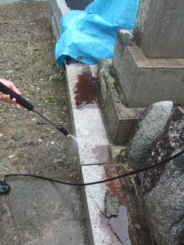 羅漢の店 水野石材店 お墓のクリーニング3
